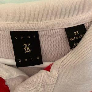 Kani Gold Shirts - Men's 3X Kani Gold Red/White Stripe Polo Used